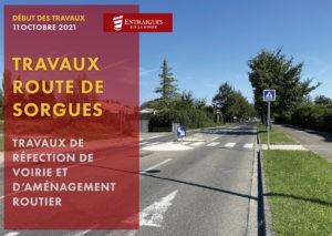 Read more about the article Travaux route de Sorgues à partir du 11 octobre
