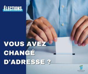 Read more about the article Élections : vous avez changé d'adresse ?