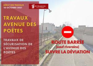Read more about the article L'avenue des Poètes fermée à la circulation durant les travaux (sauf riverains)